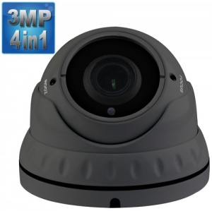 3 Mp Varifocal Dome CCTV Camera which works on every dvr