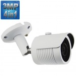 3MP Security Camera with 15M Night Vision, 4-in-1,1080p, White