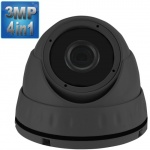 3MP Dome CCTV Camera with 15M Night Vision, 4-in-1,1080p, Grey