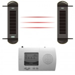 Outdoor wireless alarm with beams