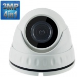 3MP Dome Security Camera with 15M Night Vision, 4-in-1,1080p