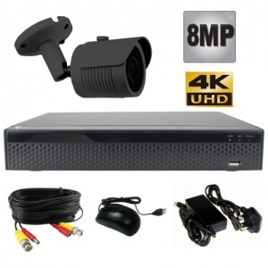 8Mp Bullet Camera CCTV Kit with Night Vision
