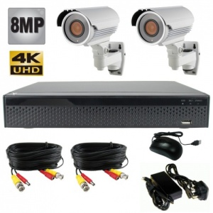 8mp Night Vision CCTV Camera system with 2 x 60m Ir Cameras