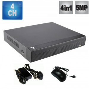 4 Channel Hd dvr Recorder 5MP, 4 in 1, Supports Ahd, Tvi, Cvi, Cvbs