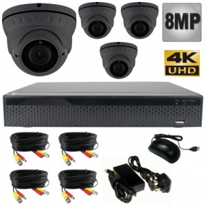 8mp Varifocal dome cctv camera system uhd / 4k / 1080p
