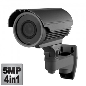 5MP Varifocal CCTV Camera, 50M Night Vision, 4-in-1,1080p, Grey