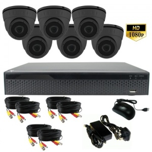 3Mp Dome Camera CCTV System with six Cameras - 1080p