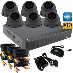 5mp varifocal dome cctv camera System with 6 cameras