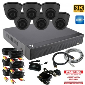 5mp Dome Security Camera system with 6 CCTV Cameras