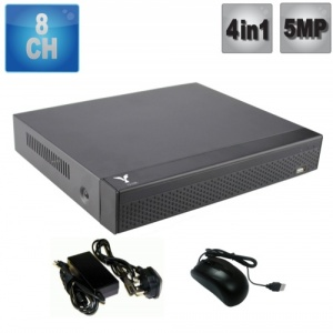 8 channel Hd dvr recorder 5MP, 5 in 1, Supports all cameras