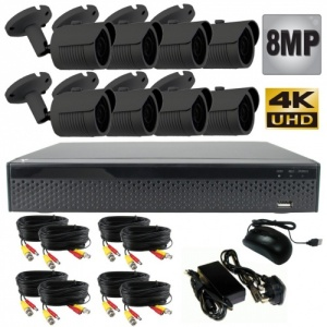 8Mp CCTV Camera System with 8 x Bullet Cameras and Dvr