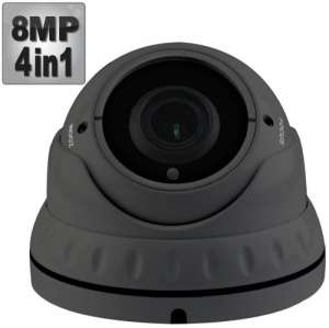 8MP Varifocal Dome CCTV Camera - UHD 4K, 40M Night Vision, 4-in-1