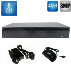 8 Channel Dvr Recorder, 8Mp, Supports all CCTV Cameras