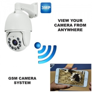 4g GSM Rotating Zoom Calving Camera System 18 x Zoom