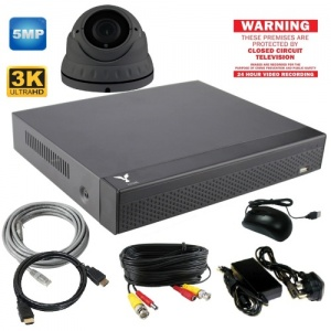 5mp Varifocal Dome with CCTV Camera and Dvr Recorder