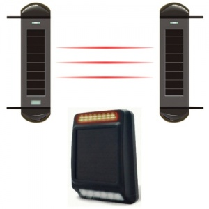 Wireless Farm Alarm With Siren and Strobe Light