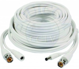 White 18 Meter Power Signal CCTV Cable