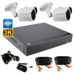 5Mp Night vision bullet CCTV Camera kit with 2 cameras & Dvr