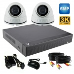5Mp Dome CCTV System with 2 x Dome Cameras and 1Tb Dvr Recorder