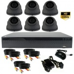 3mp Varifocal Dome CCTV System with 6 Cameras - 1080p