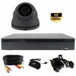 3Mp CCTV Camera System with 40m Ir Varifocal Dome Camera & Dvr