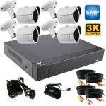 5Mp Security Camera System with 4 x Hd bullet Cameras & 1Tb Dvr