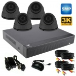5Mp Security Camera System with 4 x Hd Dome Cameras & 1Tb Dvr