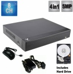 8 Channel Dvr Recorder for Hd & Analogue CCTV Cameras 5Mp