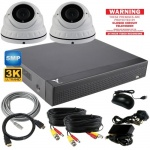 5Mp Security Camera Kit with 2 x 40m Night Vision Cameras & Dvr