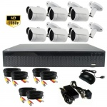 3mp Hd Security Camera System with 35m Ir, 6 x Bullet Cameras - 1080p