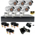 3mp Security Camera System with 6 x 60m Night Vision Cameras