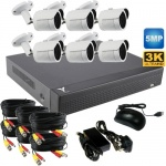 5mp Bullet CCTV system with 6 CCTV Camera