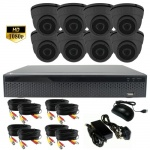 3Mp CCTV Camera Kit with 8 x Hd Night Vision dome cameras