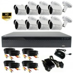3Mp CCTV Camera System with 8 x Bullet Cameras and Dvr - 1080p