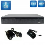 8 Channel Dvr Recorder for Hd & Analogue CCTV Cameras