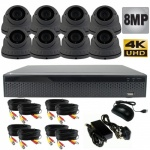 8Mp Varifocal Dome Security Camera System with 8 CCTV Cameras