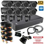 5mp CCTV Kit with 8 x 60m Ir Varifocal Bullet Cameras