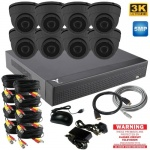 5mp Security Camera System with 8 Dome Cameras