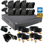 5mp Security Camera System with 8 bullet cameras