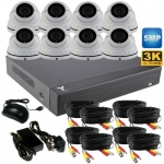5mp Varifocal Dome CCTV System with 8 Cameras
