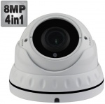 8MP Varifocal Dome CCTV Camera - 4K UHD, 40M Night Vision, 4-in-1