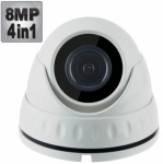 8MP Dome Security Camera with 30M Night Vision, 4-in-1,1080p
