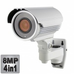 8MP Varifocal CCTV Camera, 60M Night Vision, 4-in-1, 1080p