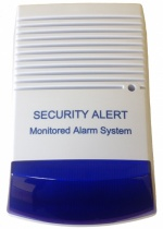 Dummy Alarm with flashing blue led light