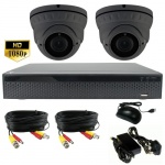 3Mp Security Camera Kit with 2 x 40m Night Vision Cameras & Dvr