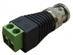 BNC connector with terminal screws for CCTV Cameras