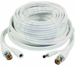 White 20 Meter Power Signal CCTV Cable