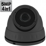 5MP Dome CCTV Camera with 30M Night Vision, 4-in-1,1080p, Grey