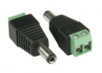 Male Dc Connector with terminal screws
