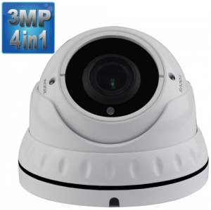 3Mp Varifocal Security Camera, 40M Night Vision, 4-in-1, 1080p